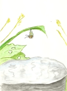 An illustration of Matilda as an imago - from Amazing Matilda -A Monarch's Tale - Children's Book Review on Mungai and the Goa Constrictor