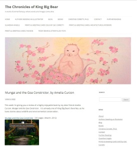 Mungai and the Goa Constrictor featured and reviewed on The Chronicles of King Big Bear