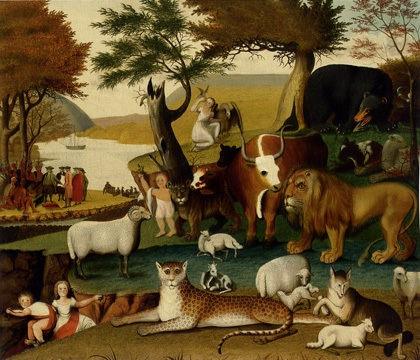 The Peaceable Kingdom and the Leopard of Serenity by Edward Hicks