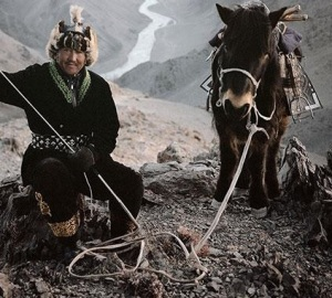 Mongolian tribesman with pony